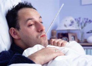 صورة المرض والبقاء في البيت
