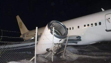 صورة تحطم طائرة ركاب بوينج 757 بغويانا