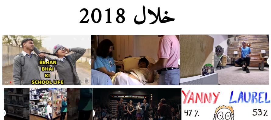 أكثر عشرة فيديوهات مشاهدة خلال2018