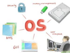 صورة عن نظام التشغيل في جهاز الكمبيوتر