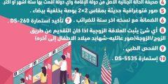 الوثائق المطلوبة أثناء المقابلة في السفارات الامريكية